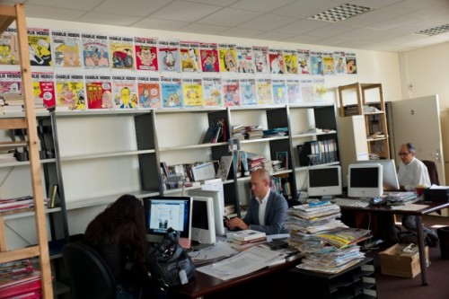 Charlie Hebdo office in Paris