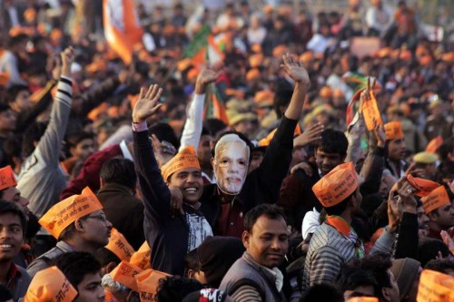 BJP election rally in New Delhi.