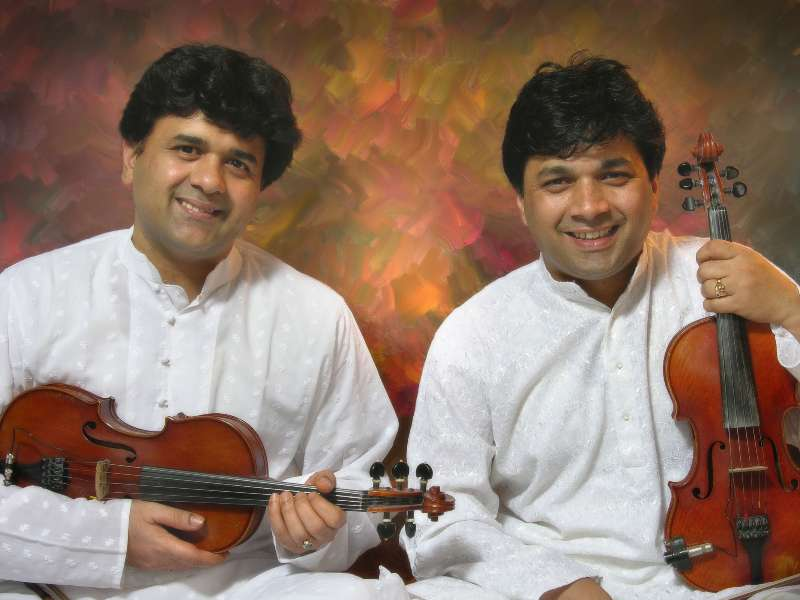Indian musicians Ganesh and Kumaresh Rajagopalan