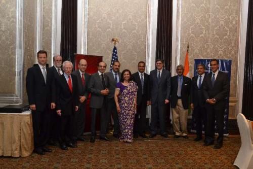US Treasury Secretary Jacob J. Lew meets top business leaders including Anil Ambani, Dr. Swati Piramal, Adi Godrej and others, ahead of the US-India Economic and Financial Partnership Dialogue in Mumbai on Feb 11, 2015.