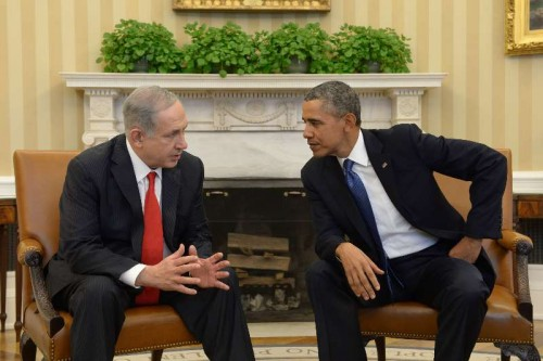 """Visiting Israeli Prime Minister Benjamin Netanyahu  meets with U.S. President Barack Obama at the White House in Washington, the U.S., on March 3, 2014. Israel needs to make some """"tough"""" decisions in order to move forward on peace talks with the Palestinians, U.S. President Barack Obama told Israeli Prime Minister Benjamin Netanyahu on Monday. """"The timeframe that we have set up for completing these negotiations is coming near and some tough decisions are going to have to be made,"""" Obama said before a bilateral meeting with Netanyahu at the White House."""