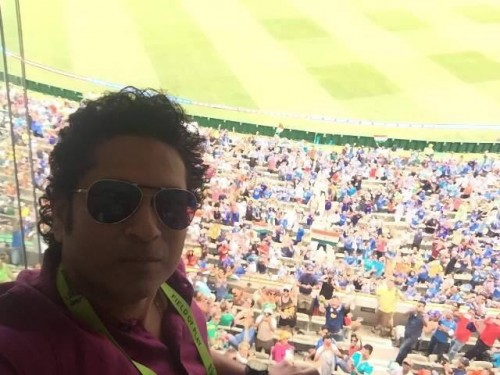 Sachin at MCG to support Team India.