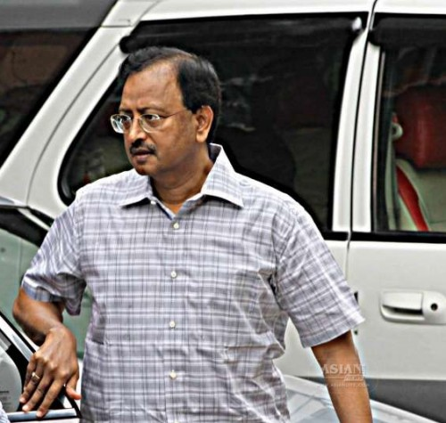 The prime accused in the multi-crore Satyam scam B. Ramalinga Raju arrives to appear before a special CBI court in Hyderabad, on March 9, 2015. The court has adjourned pronouncement of the judgment till April 9.