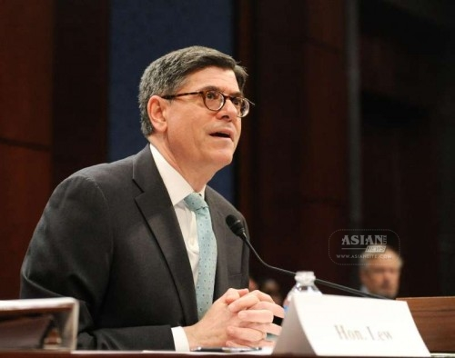 """U.S. Treasury Secretary Jacob Lew testifies before the house financial services committee in the hearing on """"the State of the International Financial System"""" in Washington D.C., capital of the United States, March 17, 2015. The U.S. Treasury Secretary Jacob Lew on Tuesday warned of the risk for eroded U.S. role in international institutions if Congress failed to ratify reforms of related institutions, such as the International Monetary Fund (IMF)."""
