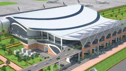 Scale model of Kannur airport