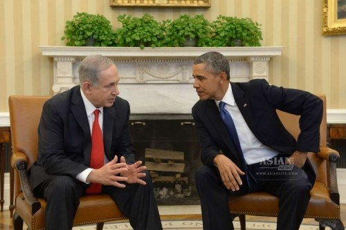 Visiting Israeli Prime Minister Benjamin Netanyahu meets with U.S. President Barack Obama at the White House in Washington, the U.S., on March 3, 2014.