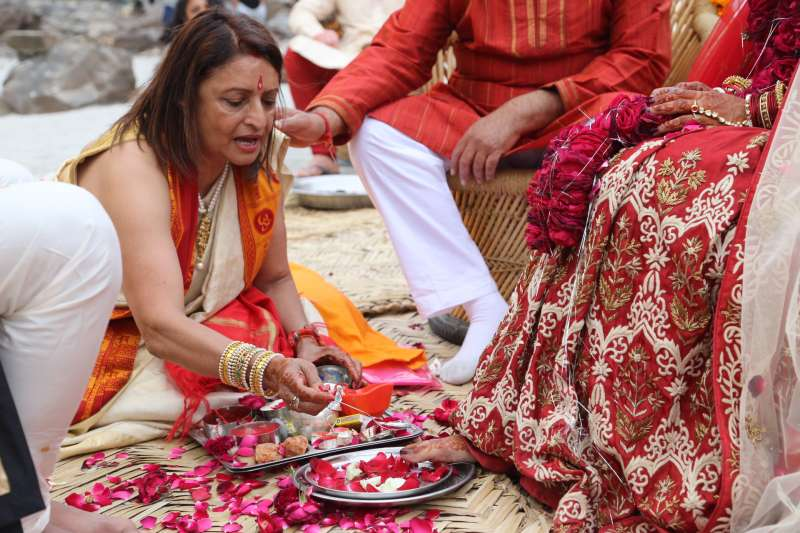 Chanda Vyas performing a puja during her daughter's wedding