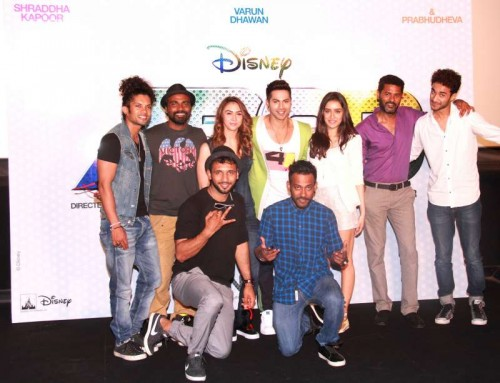 Varun Dhawan, Shraddha Kapoor, Remo and Prabhudheva at the launch of ABCD2 trailer and ABCD franchise announcement