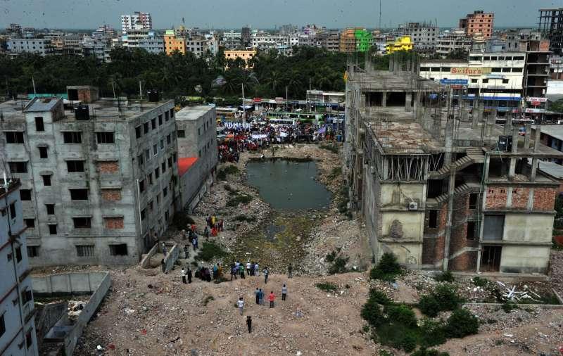 Rana Plaza  site in Bangladesh