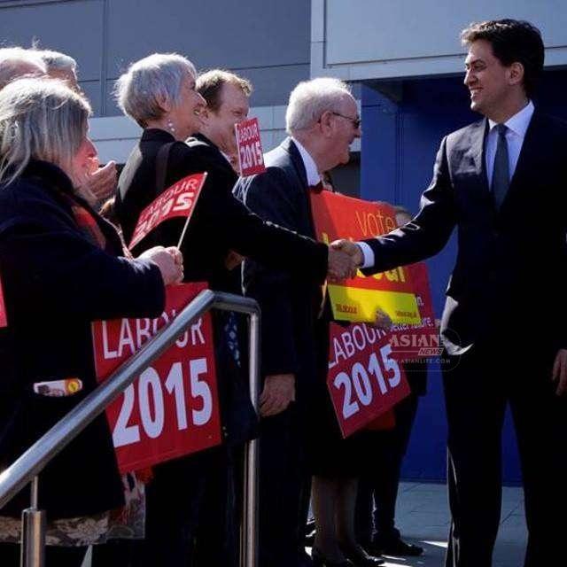 Ed Miliband on campaign trail.