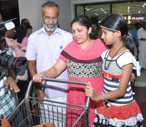 Kerala nurses stuck in violence hit Yemen arrive at the Kochi International Airport, on April 4, 2015.