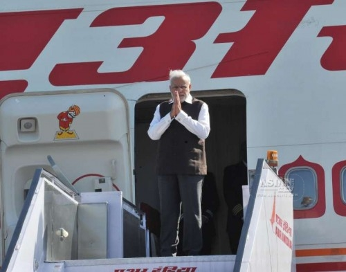 Prime Minister Narendra Modi departs for his three nation visit to France, Germany and Canada, from New Delhi on April 9, 2015.