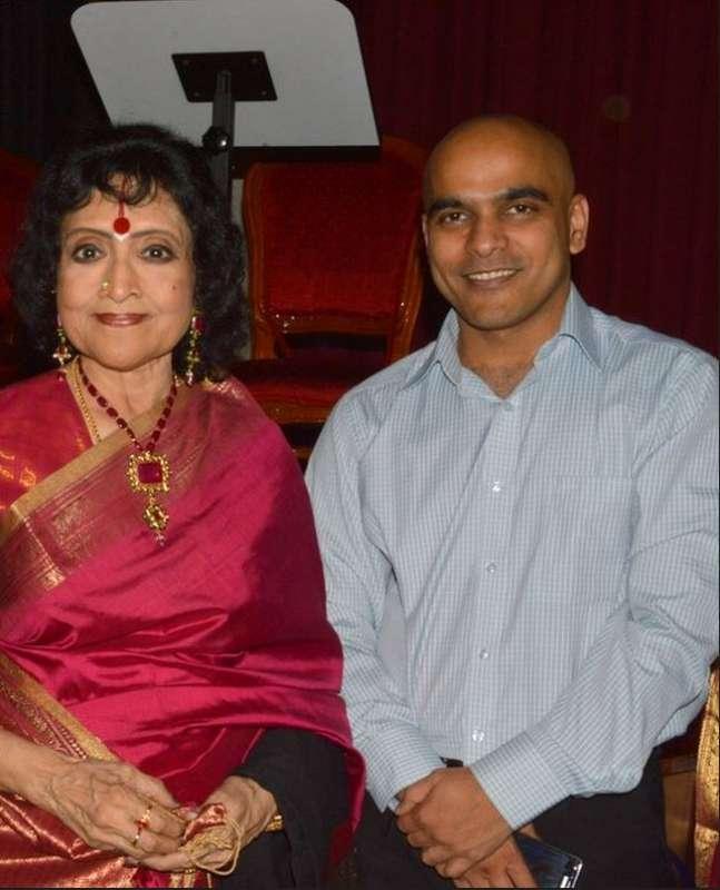 Sushil with yesteryear actress Vyjayanthimala
