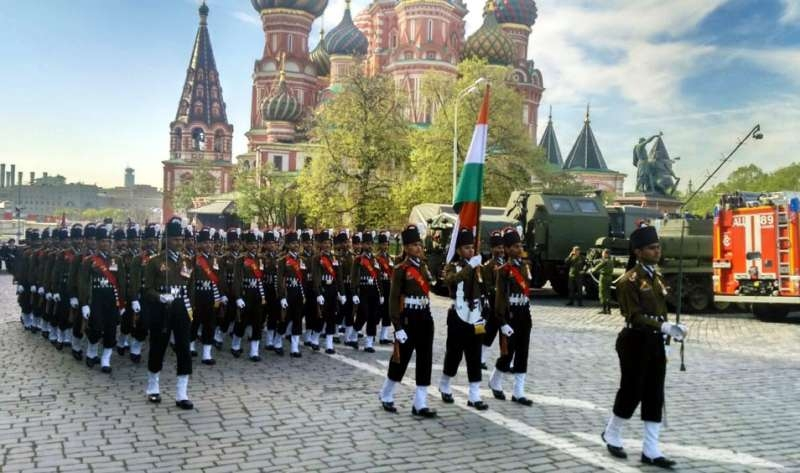 The Member of Indian Army Contingent from the Grenadiers participate in the Victory Day Parade, at Moscow, in Russia