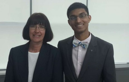 Sherry Williams, President & CEO of Prevent Blindness I Ohio Affiliate with Bradly D'Souza.