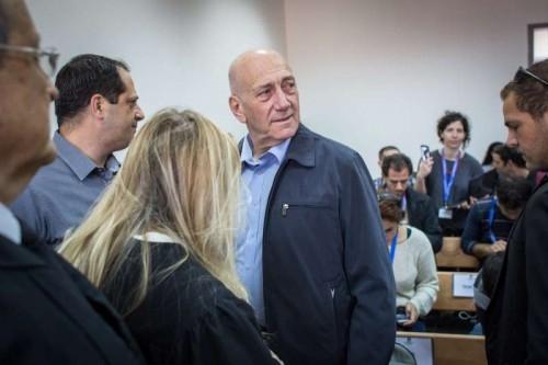Ehud Olmert in court