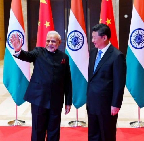 Prime Minister Narendra Modi with the China President Xi Jinping, at Shaanxi Guest House, in Xi`an, China on May 14, 2015