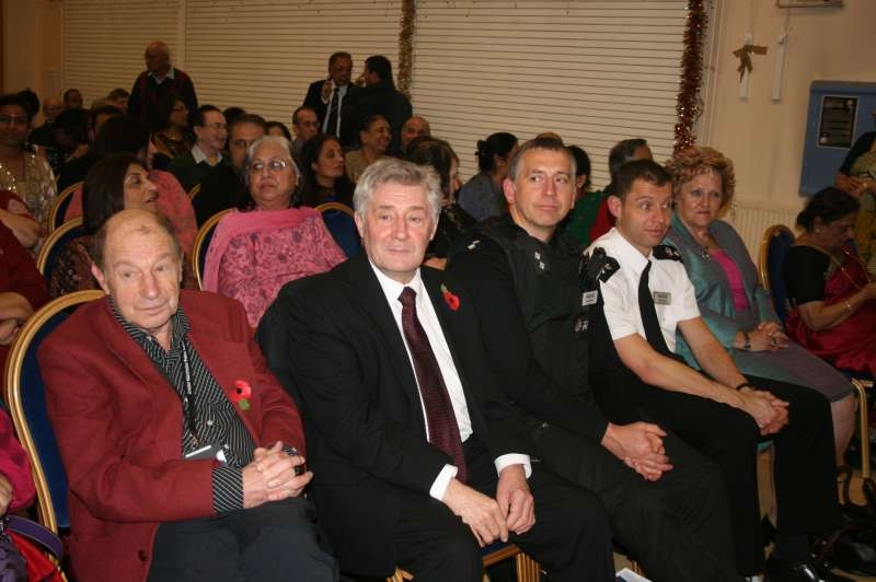 Manchester's interim mayor Tony Lloyd attending an event at Gandhi Hall