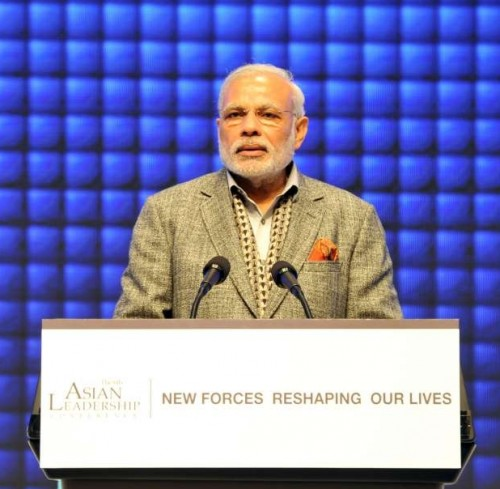 2 Caption: Seoul: Prime Minister Narendra Modi addresses at the 6th Asian Leadership Conference, in Seoul, South Korea on May 19, 2015