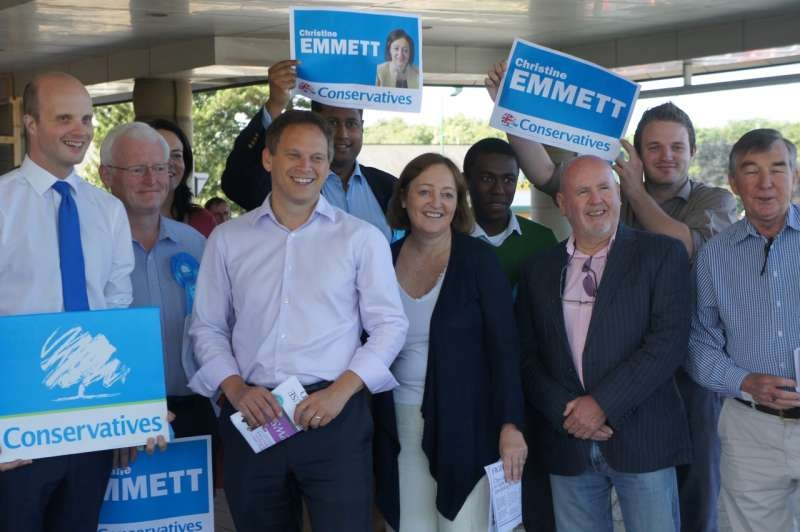 Grant Shapps during a campaign