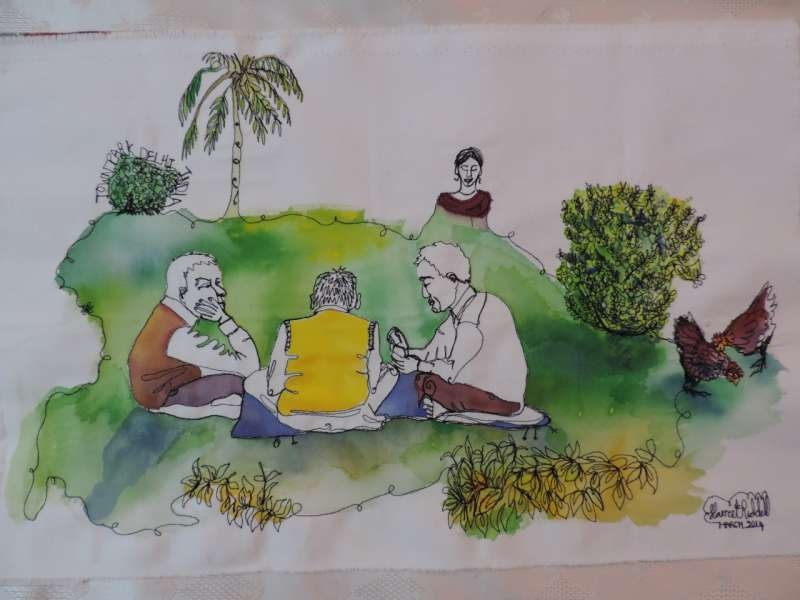 Harriet Riddell's Talk and Exhibition: In Stitch You India at 6.30  - Nehru Centre