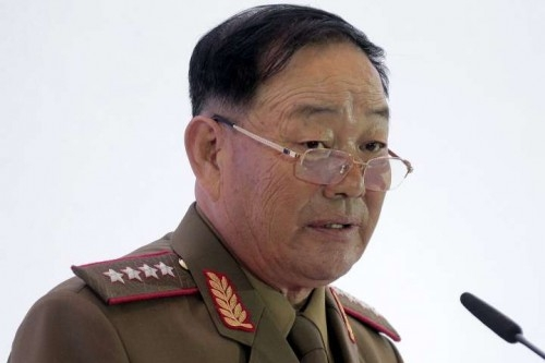 Hyon Yong-chol, the chief of North Korea's People's Armed Forces