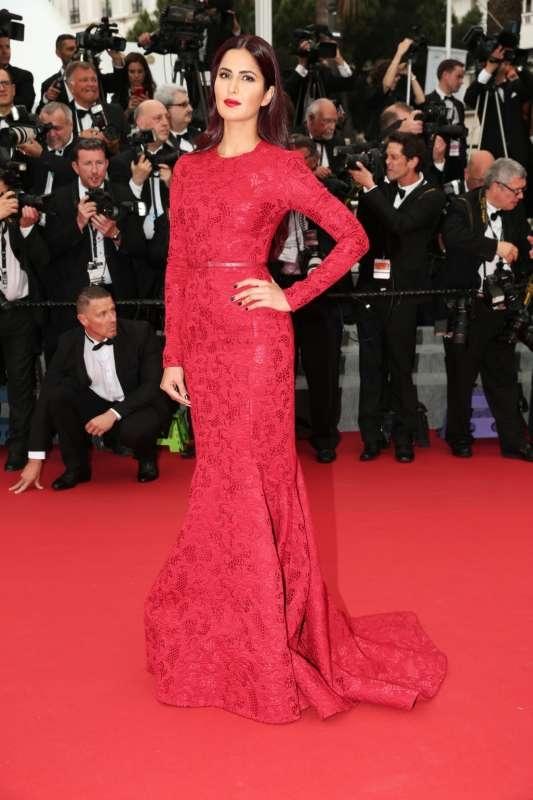 Actresses Katrina Kaif in Red