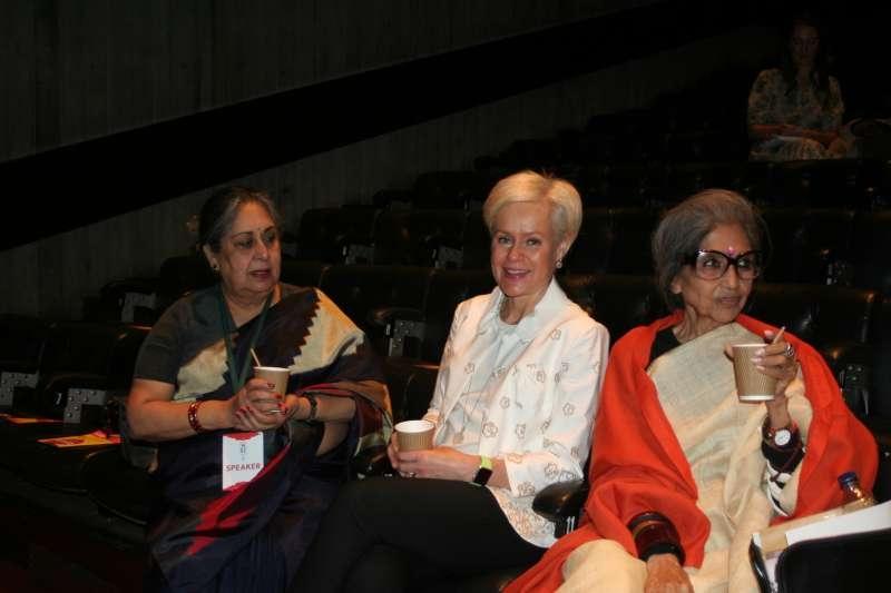 Malvika Singh, Mrs Vinayak Bhatacharjee and Tara Gandhi