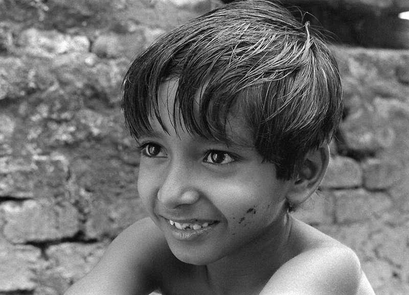 """Subir Banerjee as Apu in """"Pather Panchali"""""""