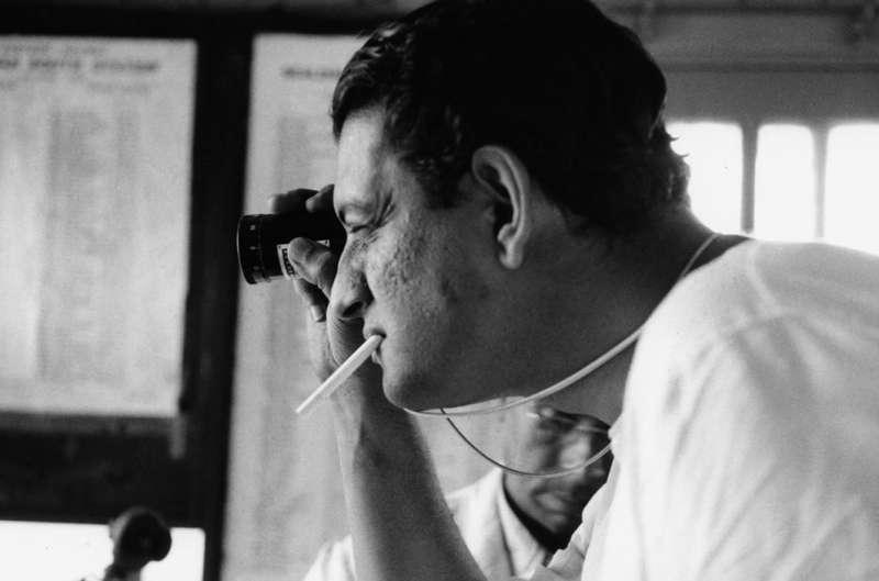 """Satyajit Ray working on """"The Apu Trilogy"""" ("""