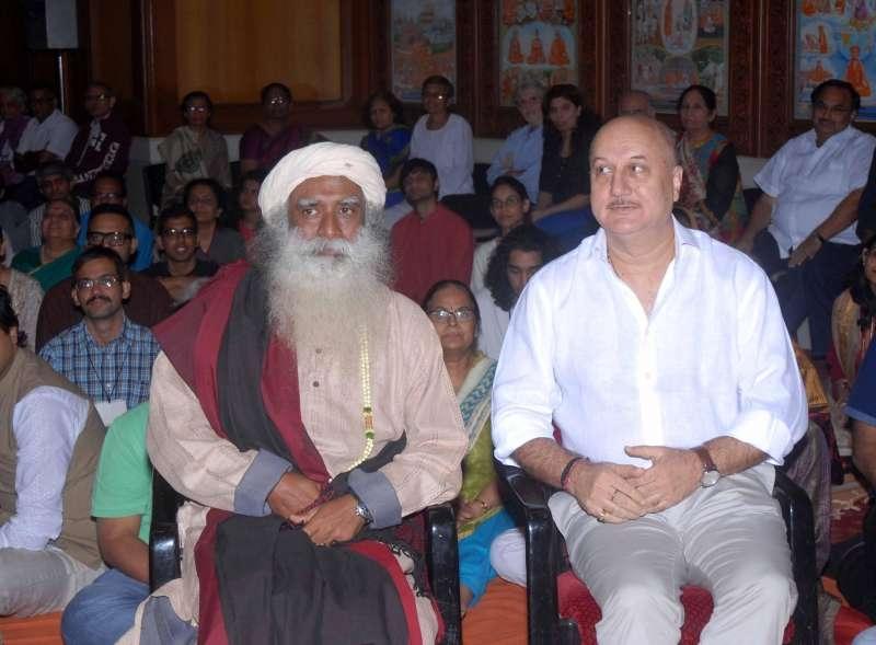 Sadhguru with Anupam Kher