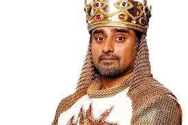 British Asian actor Sanjeev Bhaskar as King Arthur