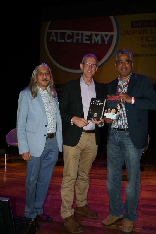 Sanjoy Roy, MD of Teamwork, with Rajdeep Sardesai and Lance Prce