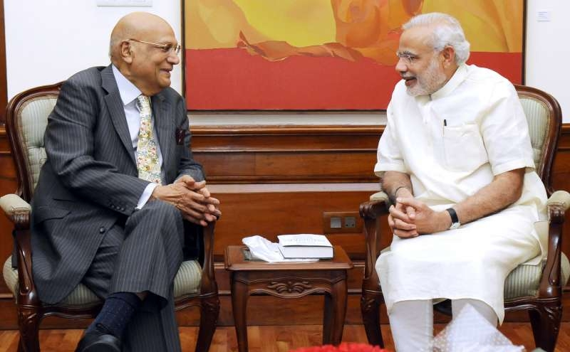 Lord Swraj Paul with Indian Prime Minister Narendra Modi