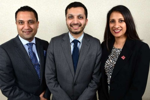 IAB officials (left to right): Waheed Saleem (vice-president), Saqib Bhatti (president) and Anita Champaneri (vice-president).