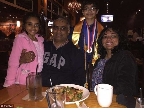 Tanishq Abraham with his family (Photo: Courtesy, Twitter)