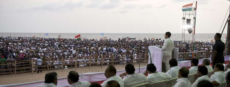 Congress Vice President Rahul Gandhi addressing the party meet in Kozhikode