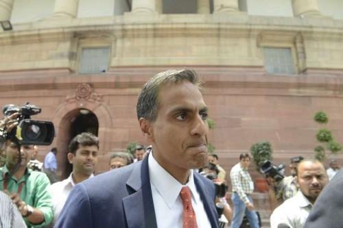 US ambassador to India, Richard Verma at Parliament House in New Delhi on May 7, 2015