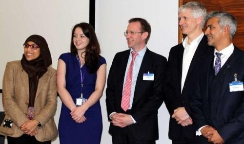 Pictured are Mashkura Rahman (vice-chair, FYSHnet), Kathryn Roberts (people leader, KPMG), Andy Argyle, Mark Rogers (Birmingham City Council chief executive) and Aftab Rahman