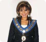 Cllr. Mrs Mimi Harker OBE during the term as  Mayor of Amersham