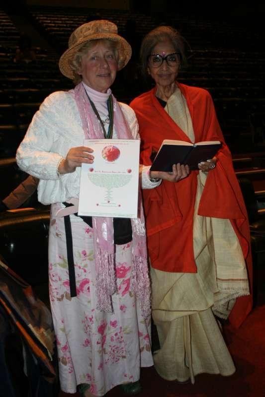 Tara Gandhi with Naomi Calligaro of Tagore Trust, London