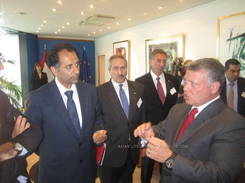 Sajjad Karim MEP with King Abdulla of Jordan. The Hashemite kingdom launches a military action against Islamic State