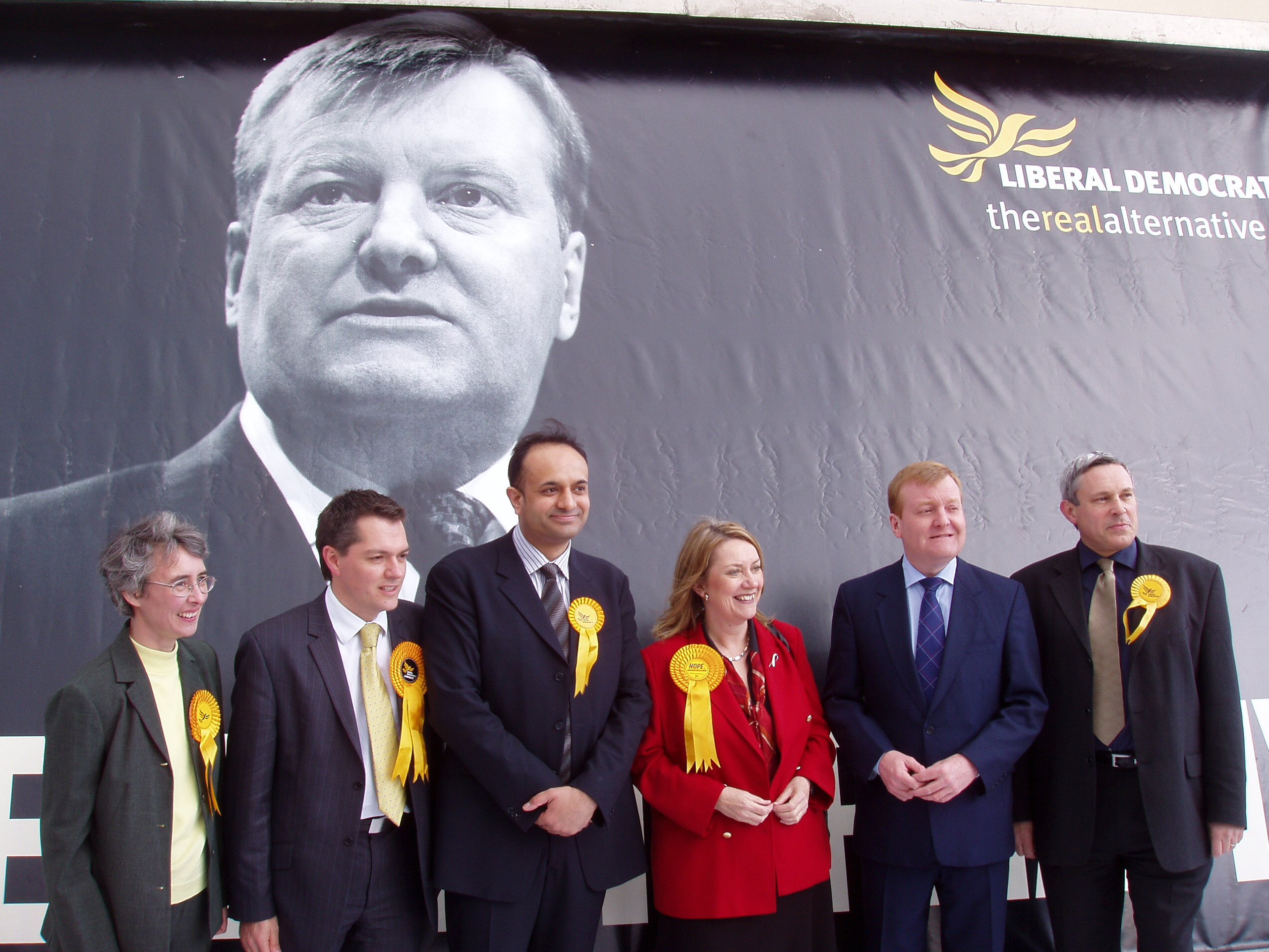 Charles Kennedy during an election campaign in the Midlands - File
