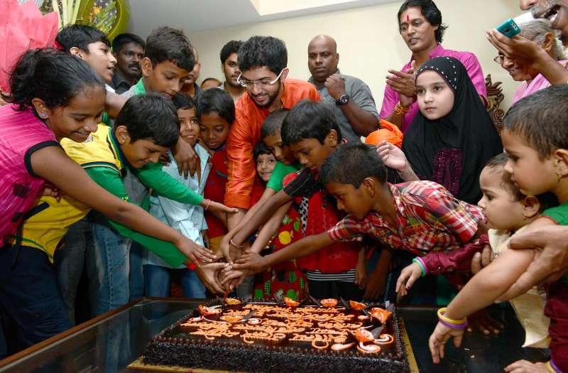 Aditya Thackeray celebrates birthday with children in  Mumbai