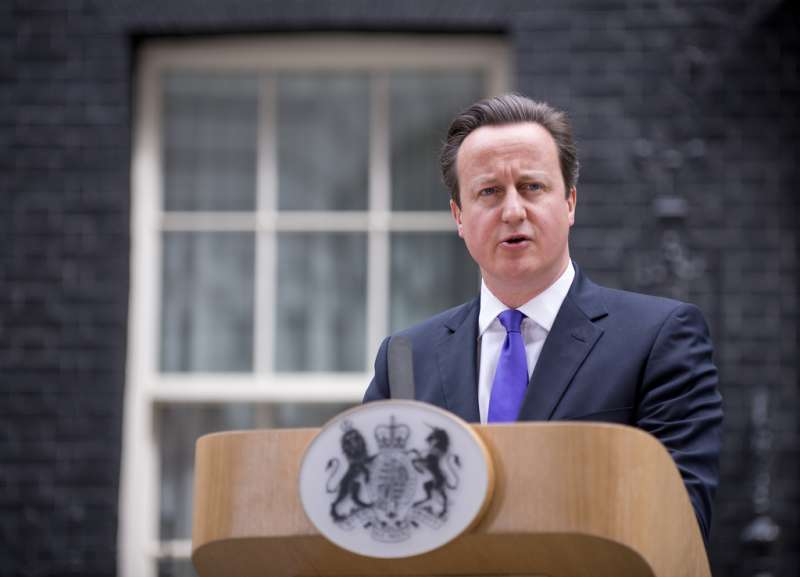 Prime Minister David Cameron addressing the press at No 10 Downing Street (File)
