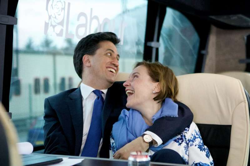 Ed Miliband with wife Justine Thornton during the campaign