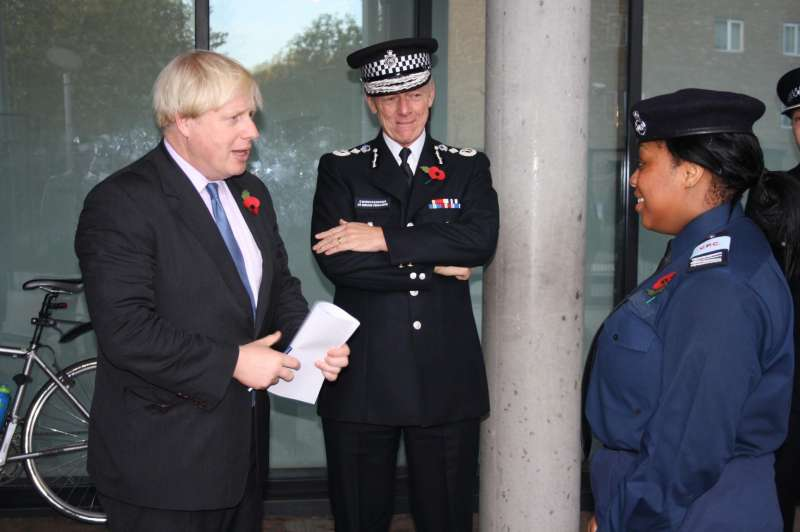 Sir Bernard Hogan-Howe with London Mayor Boris Johnson