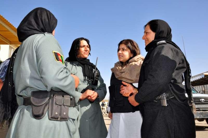 Saeeda Warsi during a visit to Afghanistan