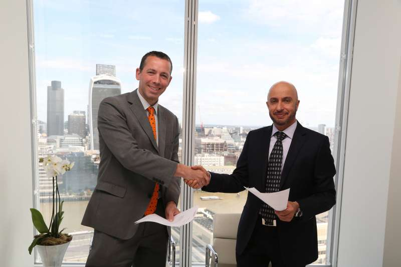 Dr Mohammed Alzarooni, the Vice Chairman and CEO of Dubai Silicon Oasis Authority (DSOA), with Gordon Innes, Chief Executive of London & Partners, the Mayor's promotional company for London