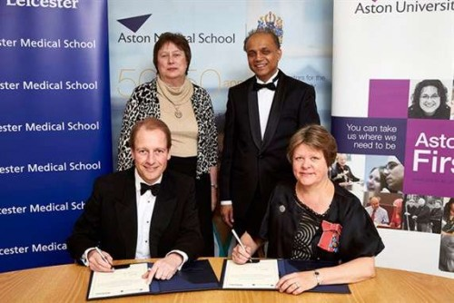 Professor Paul Boyle, Professor Alison Goodall, pro-vice-chancellor and head of college, University of Leicester, Professor Asif Ahmed, pro-vice-chancellor for health and executive dean of Aston Medical School and Professor Dame Julia King